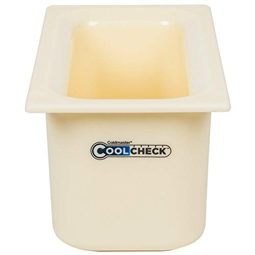 TableTop King CM1102C1402 Coldmaster CoolCheck 1/3 Size White Cold Food Pan - 6