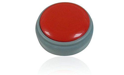 Talkie Toys Custom Voice Recording Talking Button, Record Your Voice, Push Button to Play It - Your Push