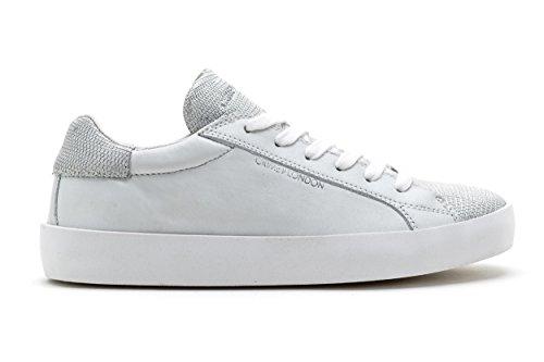 London Donna Sneakers Argento Art Tessuto E Crime Bianco 25101s17b Pelle 61RSwpZq