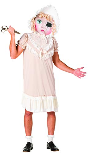 Rasta Imposta Molly The Demonic Dolly Costume, Adult-Sized Pink, White