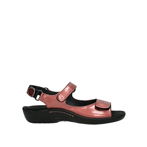 Wolky 1300 Salvia Black Womens Sandals 853 coral red patent leather