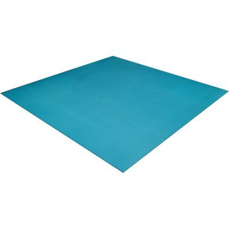 6' Square Yoga Mat, Highly Textured, No-slip Surface (Dark Teal Green)