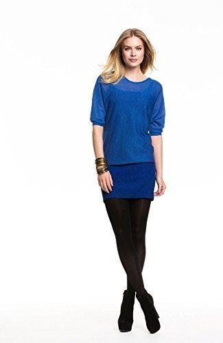 Holidaysuitcase-dames grande taille soirée sexy brillant tunique haut, choix de 2 couleurs - Femme, Bleu, 46/48