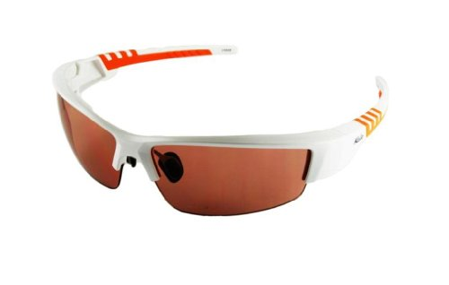 Kele by NYX Lunette Sunglasses, White/Orange Frame/Rose ()