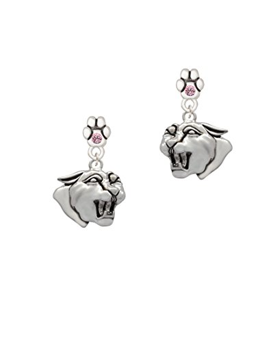 Pink Panther Ears (Large Panther - Mascot - Pink Crystal Paw Earrings)