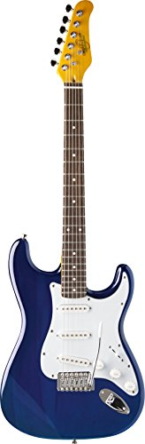 (Oscar Schmidt by Washburn Double Cutaway Electric Guitar, Trans Blue, OS-300 TBL )