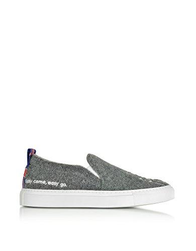 Skate SANDERS JOSHUA Tissu Chaussures Femme De 10048LONDON Gris angnzP7