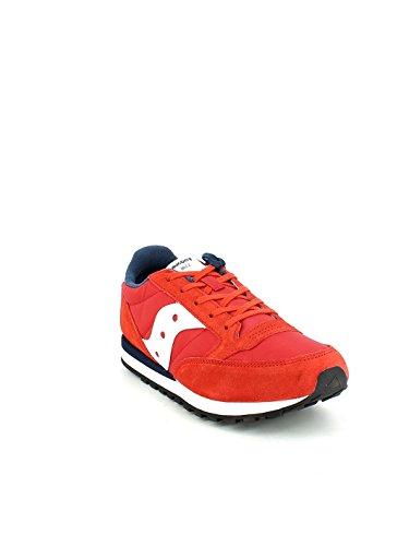 Saucony Jazz Original Boys - Zapatillas de gimnasia de Material Sintético para niño rojo rojo / blanco