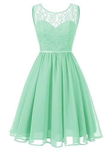 verde Prom in pizzo Honor Dresses Lady menta Jaeden Chiffon Short UwWcY8qUdf
