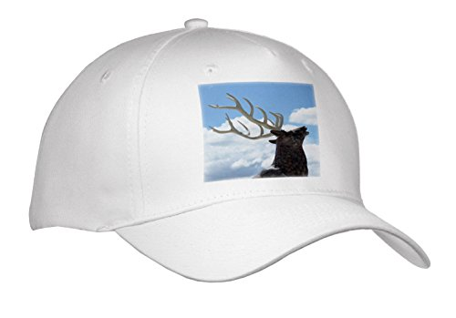 3dRose Jos Fauxtographee- Moose - A Moose That Greets People In Beaver Utah at a Rest Stop - Caps - Adult Baseball Cap (Cap_273457_1) (Beaver Top Hat)