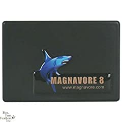 """Designer seriesmagnavore-8 cleaning magnet jumbo size for Jumbo tanks. Magnavore-8 is recommended for tanks over 240 gal. Designed for fresh water and marine, acrylic and glass aquariums. Extra large 4"""" x 2-3/4"""" cleaning area rapidly removes ..."""