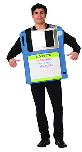 Rasta Imposta Floppy Disk Costume Mens Womens 80s 90s Party Funny Adult One Size