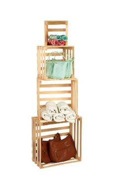 SET OF 4 NESTING CRATES by SSW Basics LLC