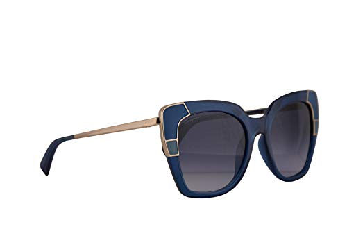 Salvatore Ferragamo SF889S Sunglasses Crystal Blue w/Blue Lens 52mm 424 SF 889S
