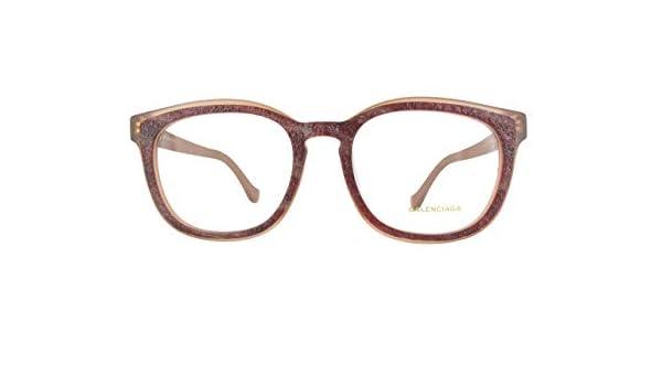 Balenciaga Brillegestelle BA5032F-065-53, Monturas de Gafas para Mujer, Rojo (Horn Other), 53: Amazon.es: Ropa y accesorios
