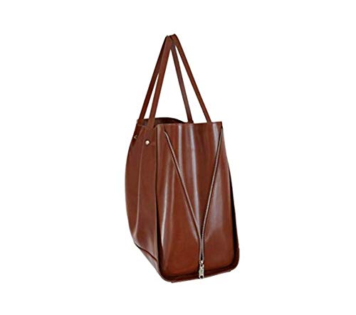 Handgjord fullkornigt läder kvinnor handväska