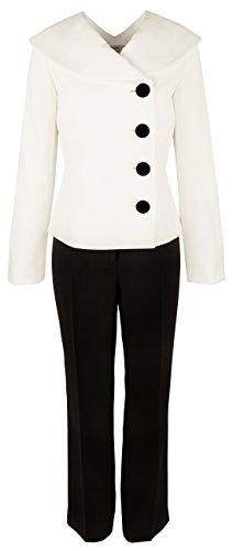 Tahari Women's 2-Piece Color-Block Pants Blazer Suit-WB-4