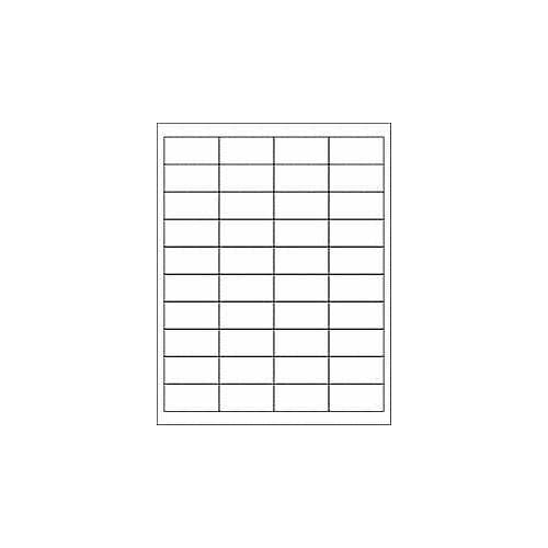 "(6 SHEETS) 240 1x2 INCH BLANK WHITE ADDRESS STICKERS FOR INKJET & LASER PRINTERS. Size: 8-1/2""x11"" Standard Sheets free shipping"