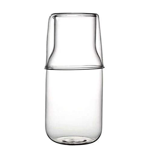 bouti1583 Glass Bedside Water Carafe Set with Tumbler (Large)