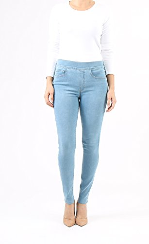 Indigo Society Women's Classic Skinny High Rise Pull On Jean 6 Light - Light Denim