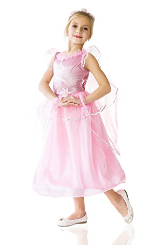 Cute Middle School Halloween Costume Ideas (Kids Girls Princess Costume Magic Beauty Classic Fairy Tale Party Outfit Dress Up (8-11 years, Rose))