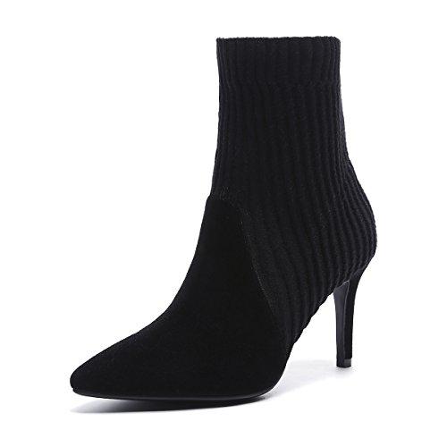 High Heels Frauen Spitz Heels Chelseboots black