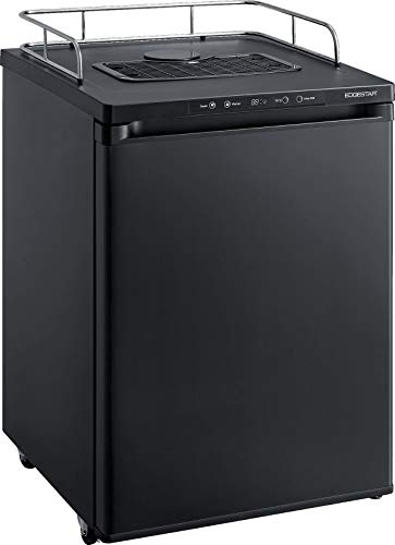 EdgeStar BR3002BL 24 Inch Wide Kegerator Conversion Refrigerator for Full Size Keg - Black