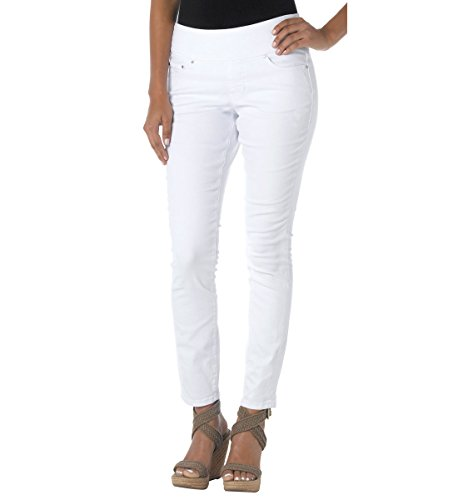 Jag Jeans Women's Nora Skinny Pull on Jean, White, - Hottest White Women