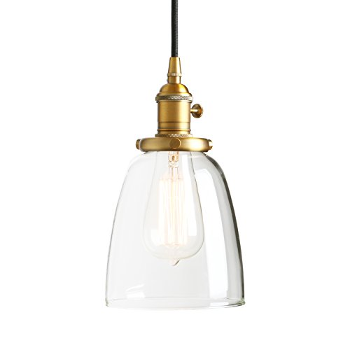 - Permo Vintage Incandescent One Light Pendant Mini Cone Clear Glass Ceiling Hanging Lamp Fixture 1-light (Antique)