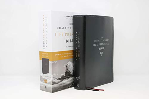 KJV, Charles F. Stanley Life Principles Bible, 2nd Edition, Leathersoft, Black, Thumb Indexed, Comfort Print: Growing in Knowledge and Understanding of God Through His Word (7 Gifts Of The Holy Spirit Understanding)