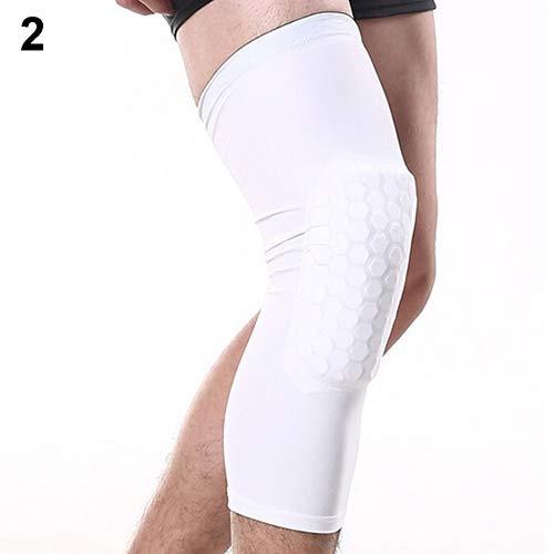 YuYe-xthriv 耐衝撃性スポーツ膝パッド フットボール バスケットボール 脚 長袖 膝パッド プロテクター ホワイト Medium