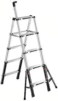 ZCF Escaleras de mano Las Escaleras Telescópicas, Espesan La Extensión Escalera de Aluminio Pueda Sentarse con Apoyo Estable Caña Telescópica para El Hogar de Trabajo Al Aire Libre (Size : Style1): Amazon.es: