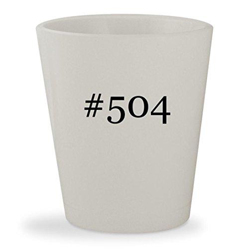 #504 - White Hashtag Ceramic 1.5oz Shot - Tx Victoria Glass