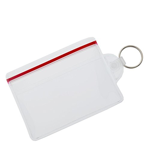 Soft Zipper Top Fuel Card or Key Ring ID Badge Holder by Specialist ID, Sold Individually