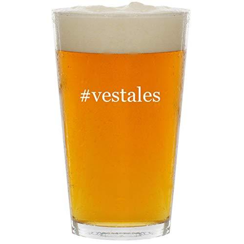 #vestales - Glass Hashtag 16oz Beer Pint