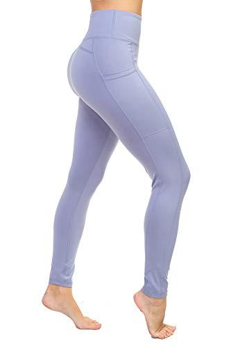 Aekonami AEKO Fitness Yoga Pants Buttery Soft Workout Gym Leggings with Pockets for Women (S, Light Blue)