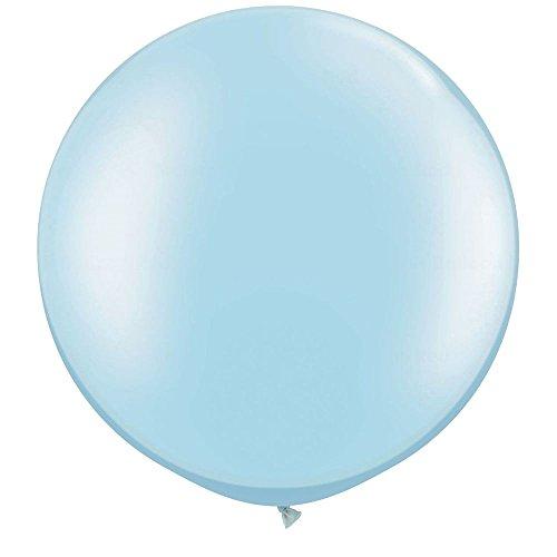 NYKKOLA 36 Inch Giant Latex Balloon (Premium Helium Quality),6 Pack Big LightBlue Balloons
