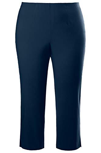 (Ulla Popken Women's Plus Size Bengaline Cropped Stretch Pants Indigo 38 640893 75)
