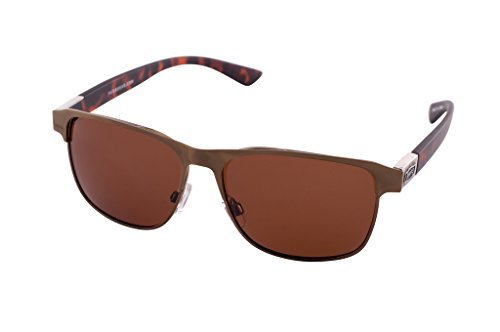 1601 Pugs Polarized and 100% UV Sunglasses, Classic Urban Retro Style (Gold and Turtleshell Frame, Brown - Bans Turtle Shell Ray