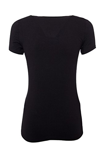 Guess camiseta logo triángulo negra Negro
