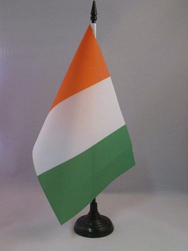 BANDIERA DA TAVOLO COSTA D'AVORIO 21x14cm - PICCOLA BANDIERINA IVORIANA 14 x 21 cm - AZ FLAG