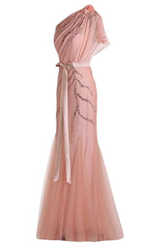 ... Missdressy Luxury Ein-Traeger Meerjungfrau Lang Chiffon Tuell Paillette  Cocktailkleider Ballkleider Abendkleid