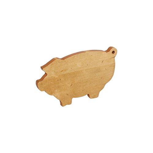 J.K. Adams Pig Novelty Serving Board, Mini, Maple (Shaped Cutting Board Pig)