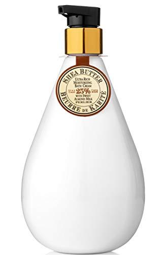 Perlier Shea Butter with Sweet Almond Milk Moisturizing Bath Cream 16.9 Fl Oz