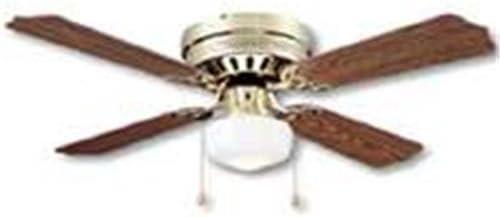 BOSTON HARBOR CF-78125 430686 Ceiling Fan Light Kit, 1 CFL Lamp, Polished, 13 in H X 42 in W, Brown