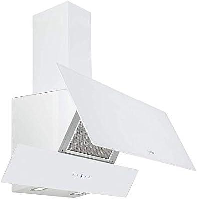 UNIVERSALBLUE - Campana Extractora de Cristal 90cm - Color Blanco - Eficiencia Energética C: Amazon.es: Grandes electrodomésticos