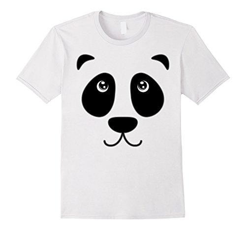 Panda Costume Face (Mens Panda Bear Cute Face Costume Halloween T-Shirt Large White)