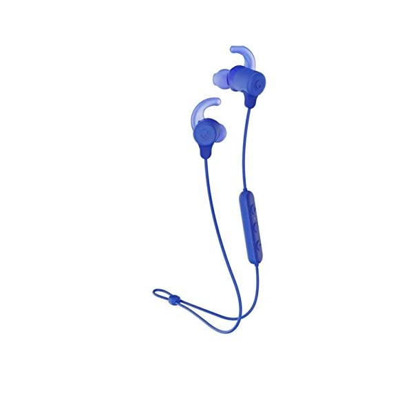 Skullcandy Jib Plus Active Sport Wireless in-Earphone with Mic (Blue) 2021 July Bluetooth Wireless Technology, Secure FitFin Gels IPX4 Water and Sweat Resistant, 8 Hr Battery Life Microphone, Call, Track and Volume Control