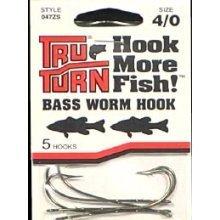 Bass Worm Hook 4/0 Bronze