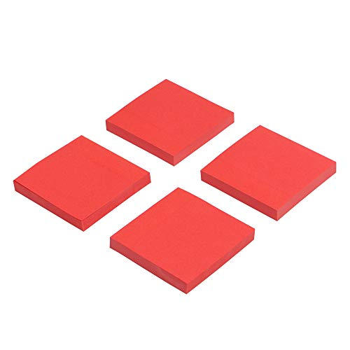 (Eagle Sticky Notes, 3 X 3 Inch, 100 Sheets/Pad, 4 Pads (Red))